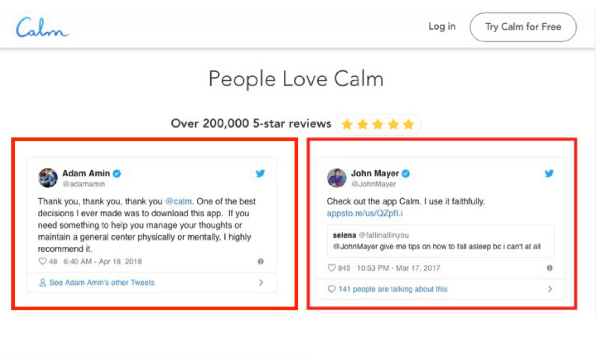 calm john mayer tweet review