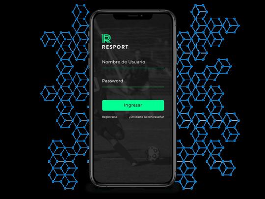 Resport mobile app login